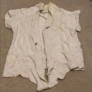 Forever 21 Cream Knit short sleeve Cardigan